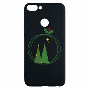 Phone case for Huawei P Smart Christmas trees in a wreath