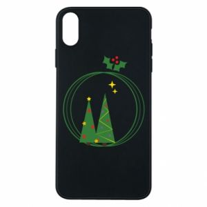 iPhone Xs Max Case Christmas trees in a wreath