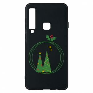 Samsung A9 2018 Case Christmas trees in a wreath