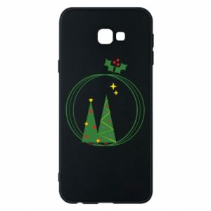 Phone case for Samsung J4 Plus 2018 Christmas trees in a wreath