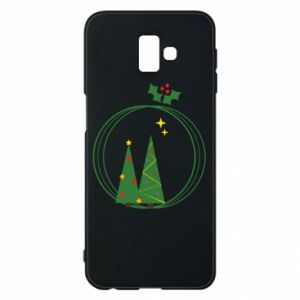 Phone case for Samsung J6 Plus 2018 Christmas trees in a wreath