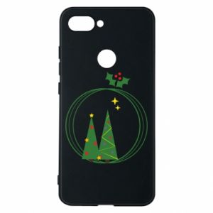 Phone case for Xiaomi Mi8 Lite Christmas trees in a wreath