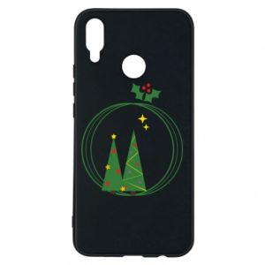 Phone case for Huawei P Smart Plus Christmas trees in a wreath