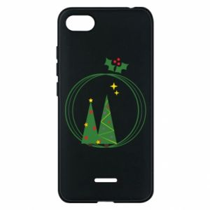 Phone case for Xiaomi Redmi 6A Christmas trees in a wreath