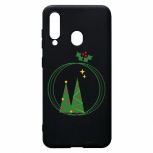 Phone case for Samsung A60 Christmas trees in a wreath