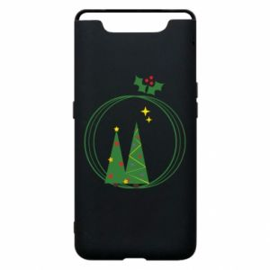 Samsung A80 Case Christmas trees in a wreath