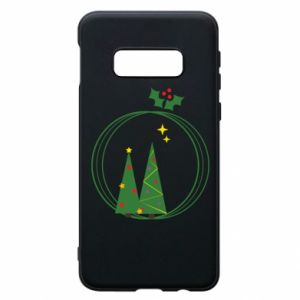 Samsung S10e Case Christmas trees in a wreath