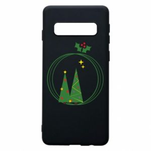 Phone case for Samsung S10 Christmas trees in a wreath