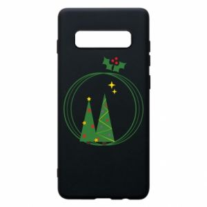 Phone case for Samsung S10+ Christmas trees in a wreath