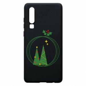 Phone case for Huawei P30 Christmas trees in a wreath