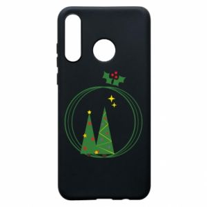 Phone case for Huawei P30 Lite Christmas trees in a wreath