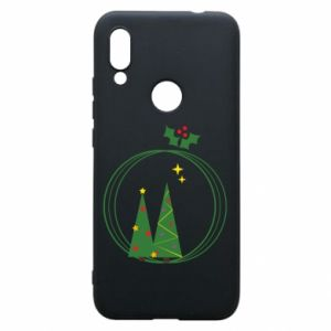 Xiaomi Redmi 7 Case Christmas trees in a wreath
