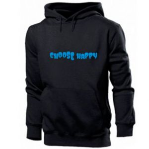 Męska bluza z kapturem Choose happy