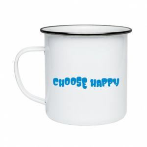 Kubek emaliowane Choose happy