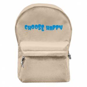 Plecak z przednią kieszenią Choose happy