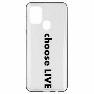 Etui na Samsung A21s Choose live