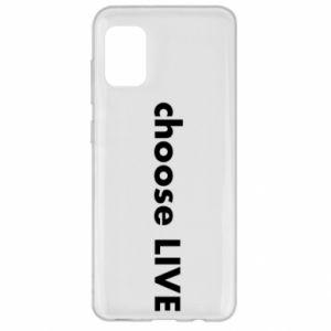 Etui na Samsung A31 Choose live