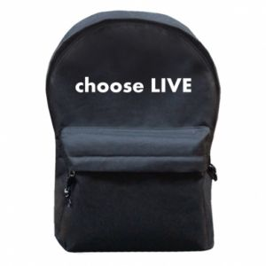 Backpack with front pocket Choose live