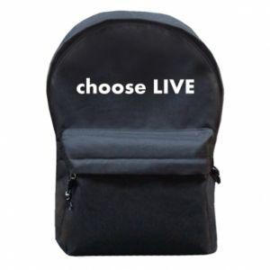 Plecak z przednią kieszenią Choose live