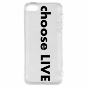 Phone case for iPhone 5/5S/SE Choose live