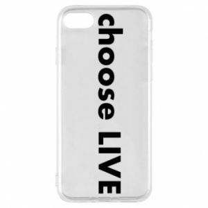 Phone case for iPhone 8 Choose live