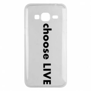 Phone case for Samsung J3 2016 Choose live