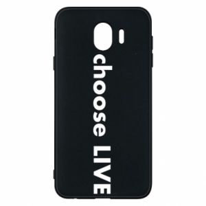 Phone case for Samsung J4 Choose live