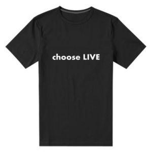 Męska premium koszulka Choose live
