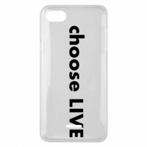 Phone case for Xiaomi Redmi 6A Choose live