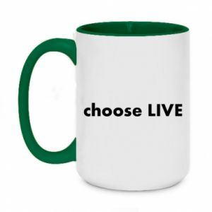 Two-toned mug 450ml Choose live