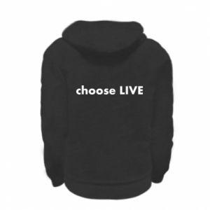 Bluza na zamek dziecięca Choose live