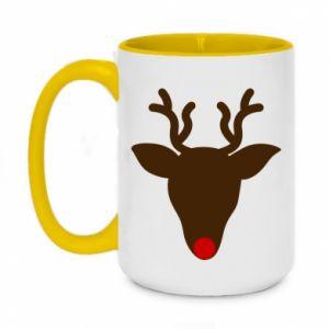 Two-toned mug 450ml Christmas deer