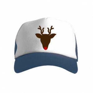 Czapka trucker dziecięca Christmas deer