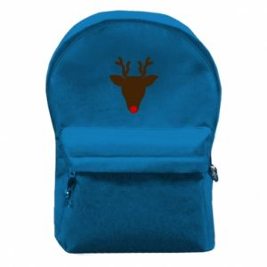 Backpack with front pocket Christmas deer