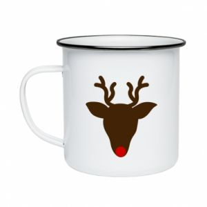 Enameled mug Christmas deer