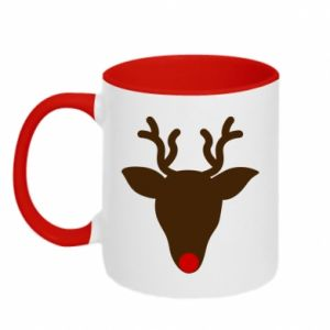 Two-toned mug Christmas deer
