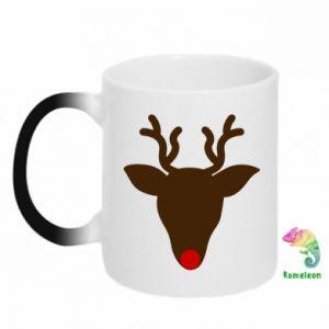 Kubek-kameleon Christmas deer