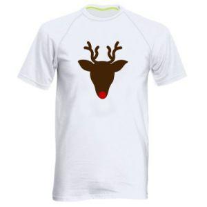 Men's sports t-shirt Christmas deer