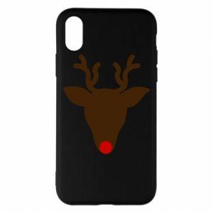 Etui na iPhone X/Xs Christmas deer