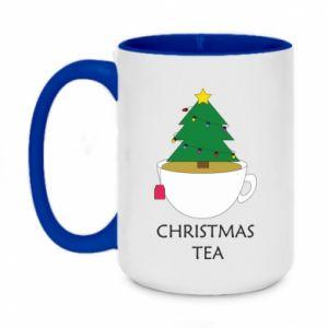 Two-toned mug 450ml Christmas tea
