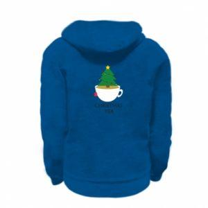Kid's zipped hoodie % print% Christmas tea