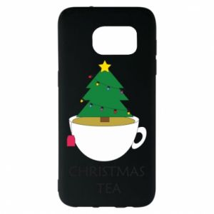Samsung S7 EDGE Case Christmas tea