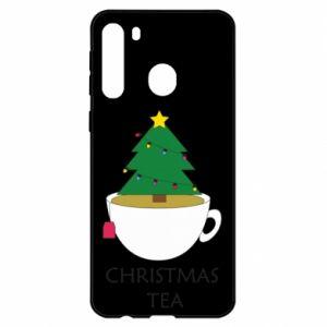 Etui na Samsung A21 Christmas tea