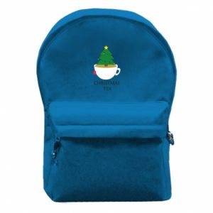 Backpack with front pocket Christmas tea