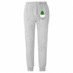 Męskie spodnie lekkie Christmas tea