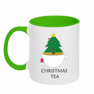 Two-toned mug Christmas tea