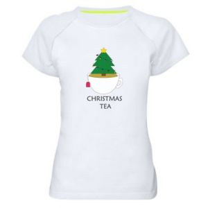 Women's sports t-shirt Christmas tea