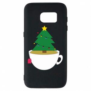 Samsung S7 Case Christmas tea