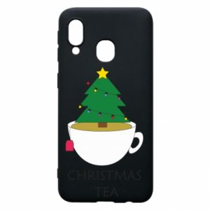 Samsung A40 Case Christmas tea
