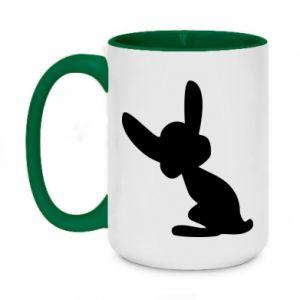 Two-toned mug 450ml Shadow of a Bunny